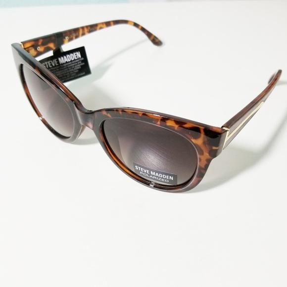 cead66c3cafda Steve Madden Tort Polarized Cat Eye Sunglasses